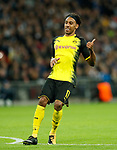 Dortmund's Pierre-Emerick Aubameyang in action during the champions league match at Wembley Stadium, London. Picture date 13th September 2017. Picture credit should read: David Klein/Sportimage