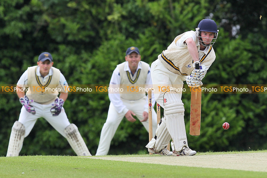 J Walter in batting action for Shenfield - Shenfield CC vs Ardleigh Green CC - Essex Cricket League at Courage Playing Field - 16/06/12 - MANDATORY CREDIT: Gavin Ellis/TGSPHOTO - Self billing applies where appropriate - 0845 094 6026 - contact@tgsphoto.co.uk - NO UNPAID USE.