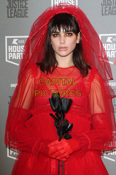 Dua Lipa at the KISS House Party at SSE Arena Wembley, London on Thursday 26 October 2017<br /> CAP/ROS<br /> &copy;ROS/Capital Pictures
