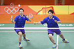 Hiroyuki Endo &amp; Kenichi Hayakawa (JPN), <br /> AUGUST 15, 2016 - Badminton : <br /> Men's Doubles Quarter finals<br /> at Riocentro - Pavilion 4 during the Rio 2016 Olympic Games in Rio de Janeiro, Brazil. <br /> (Photo by Yusuke Nakanishi/AFLO SPORT)