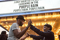 NEW YORK APRIL 21NEW YORK APRIL 21Harlem pays tribute to Prince dancing with his music at the Apollo Theater . During the course of his legendary career, Prince made several appearances at the famed Apollo Theater in Harlem.The pop star died a few hours ago at the age of 57. in Harlem, New York City, Friday, April 21, 2016. Photo by VIEWpress/Maite H. Mateo