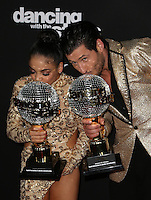 "Los Angeles, CA - NOVEMBER 22: Laurie Hernandez, Val Chmerkovskiy, At ABC's ""Dancing With The Stars"" Season 23 Finale At The Grove, California on November 22, 2016. Credit: Faye Sadou/MediaPunch"
