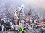 14.04.2018, OLympiastadion, Berlin, GER, 1.FBL, Hertha BSC VS. 1.FC Koeln, im Bild <br /> Koelner-Fanblock, <br /> <br /> <br />       <br /> Foto &copy; nordphoto / Engler