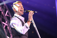 Ronan Keating performs at the evening event of Ronan Keating performs at the gala dinner during the Graham Wylie Foundation- Have A Heart- golf day with Lee Westwood and Ronan Keating at Gateshead Hilton England on 10 September 2018. Photo by Thomas Gadd.