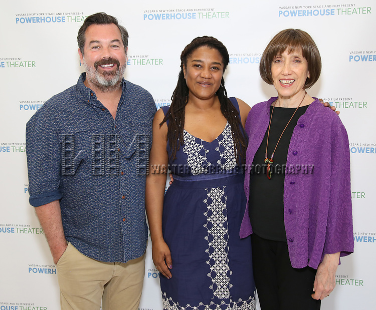 Duncan Sheik, Lynn Nottage and Susan Birkenhead attends the Media Day for 33rd Annual Powerhouse Theater Season at Ballet Hispanico in New York City.