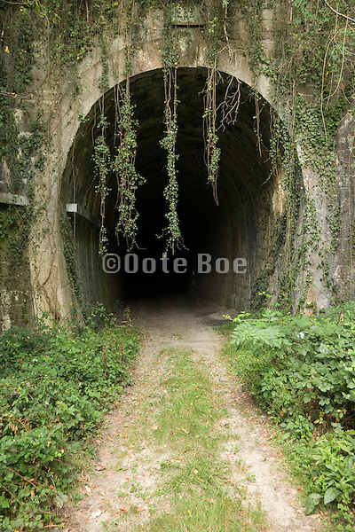 old disused train tunnel