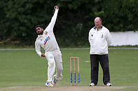 Seetal Patel of Crouch End during Crouch End CC (fielding) vs Waltham CC, ECB National Club Championship Cricket at The Calthorpe Ground on 9th June 2019