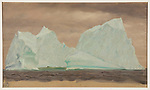 Drawing, Floating Icebergs Under Cloudy Skies, 1859<br />