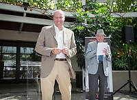 Dave Berkus '62 and President Jonathan Veitch<br />