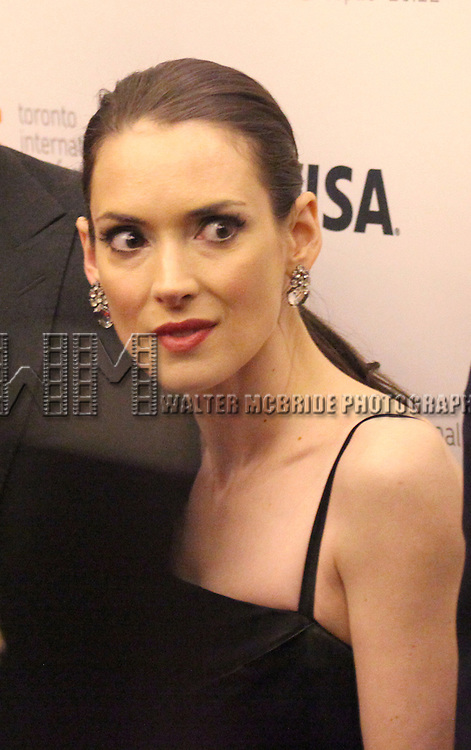 Winona Ryder attending the The 2012 Toronto International Film Festival.Red Carpet Arrivals for 'The Iceman' at the Princess of Wales Theatre in Toronto on 9/10/2012