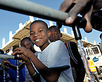 People in the Belair neighborhood of Port-au-Prince who survived Haiti's devastating January 12 earthquake enjoyed safe water for the first time on January 21 after Norwegian Church Aid, a member of the ACT Alliance, installed a water system that provides homeless families with piped in water points.