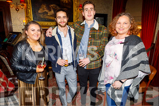 Ciara Shannon, Lee Galway, Oisin O'Brien and Denise Fitzgerald enjoying the Manor West and Ashe Hotel party in the Grand Hotel on Sunday.