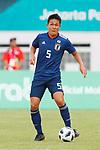 Daiki Sugioka (JPN), <br /> AUGUST 19, 2018 - Football / Soccer : <br /> Men's Group D match <br /> between Japan 0-1 Vietnam <br /> at Wibawa Mukti Stadium <br /> during the 2018 Jakarta Palembang Asian Games <br /> in Cikarang, Indonesia. <br /> (Photo by Naoki Morita/AFLO SPORT)