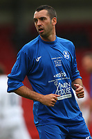 Tom Williams Cyprus International and Hashtag United player during Tottenham Hotspur All-Stars vs Celebrity XI, Charity Match Football at Brisbane Road on 12th May 2013