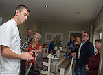 Michelin Star Chef Hywel Jones during one of his cooking displays <br /> <br /> Redrow Homes - Mon Bank - Saturday 28th September  2013  - Newport<br /> <br /> &copy; www.sportingwales.com- PLEASE CREDIT IAN COOK