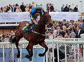 June 10th 2017, Chester Racecourse, Cheshire, England; Chester Races Horse racing Franny Norton leads home Lonely the Brave in the Liverpool Gin Handicap Stakes
