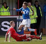 Graham Hay tackles Dean Shiels