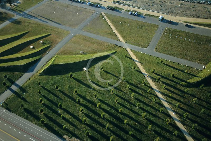 California, San Francisco, Aerial view of Crissy Field
