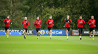 Pictured: (L-R) Ben Davies, Jonathan Williams, Tom Lawrence, David Brooks, David Edwards, Hal Robson-Kanu and MArley Watkins. Monday 02 October 2017<br />