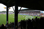 Carlisle United 1 Newcastle United 1, 21/07/2007. Brunton Park, Pre-season Friendly. Carlisle United fans in the Warwick Road End watching their team take on Newcastle United in a pre-season friendly at Cumbrian's Brunton Park ground. The match ended one goal each with Newcastle equalising Danny Livesey's opener through Nolberto Solano in the last minute. During the 2007-08 season Carlisle played in League One, English football's third tier, while Newcastle were a top Premiership team. Photo by Colin McPherson.