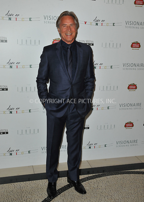 WWW.ACEPIXS.COM<br /> <br /> April 8 2015, LA<br /> <br /> Don Johnson arriving at the premiere of 'Alex Of Venice' at The London West Hollywood on April 8, 2015 in West Hollywood, California. <br /> <br /> By Line: Peter West/ACE Pictures<br /> <br /> <br /> ACE Pictures, Inc.<br /> tel: 646 769 0430<br /> Email: info@acepixs.com<br /> www.acepixs.com
