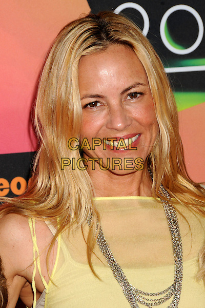 MARIA BELLO .at the 23rd Annual Nickelodeon Kids' Choice Awards 2010 held at Pauley Pavilion in Westwood, California, USA, March 27th 2010 .arrivals kids portrait headshot smiling silver necklace sheer see thru through yellow .CAP/ADM/BP.©Byron Purvis/Admedia/Capital Pictures