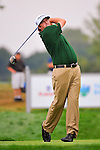 29 August 2009: Steve Marino tees off during the third round of The Barclays PGA Playoffs at Liberty National Golf Course in Jersey City, New Jersey.