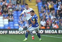 Preston North End's Andrew Hughes  in action with Birmingham City's Maxime Colin<br /> <br /> Photographer Mick Walker/CameraSport<br /> <br /> The EFL Sky Bet Championship - Birmingham City v Preston North End - Saturday 21st September 2019 - St Andrew's - Birmingham<br /> <br /> World Copyright © 2019 CameraSport. All rights reserved. 43 Linden Ave. Countesthorpe. Leicester. England. LE8 5PG - Tel: +44 (0) 116 277 4147 - admin@camerasport.com - www.camerasport.com