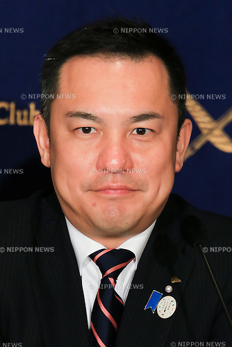 Eikei Suzuki Governor of Mie Prefecture attends a press conference about the preparation plans for the next G7 Summit to be held in Ise-Shima, Mie, in May 2016 at the Foreign Correspondents' Club of Japan on November 18, 2015, Tokyo, Japan. Suzuki also spoke about security for the summit in the wake of the recent terrorist attacks in Paris. In June, Prime Minister Shinzo Abe announced the Japanese prefecture for the venue of the next G7 summit, which will be the sixth to be held in Japan. The last time Japan hosted the event was in Toyako, Hokkaido in 2008. (Photo by Rodrigo Reyes Marin/AFLO)