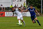 01.08.2020, C-Team Arena, Ravensburg, GER, WFV-Pokal, FV Ravensburg vs SSV Ulm 1846 Fussball, <br /> DFL REGULATIONS PROHIBIT ANY USE OF PHOTOGRAPHS AS IMAGE SEQUENCES AND/OR QUASI-VIDEO, <br /> im Bild Adrian Beck (Ulm, #8), Felix Hörger / Hoerger (Ravensburg, #4)<br /> <br /> Foto © nordphoto / Hafner