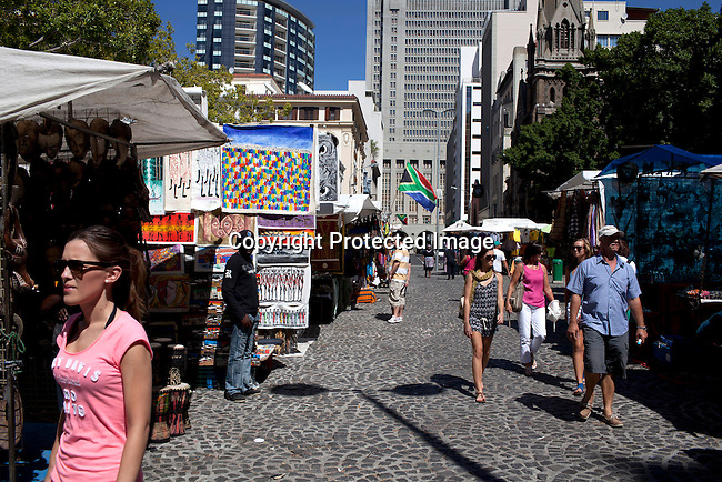 CAPE TOWN, SOUTH AFRICA - MARCH 21: Greenmarket Square market area on March 21, 2012 in Cape Town, South Africa (Photo by Per-Anders Pettersson)