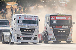 Czech driver Frantisek Vojtisek belonging Czech team Czech Truck Racing Team and Monegasque driver Ellen Lohr belonging German team Truck Sport Lutz Bernau during the fist race R1 of the XXX Spain GP Camion of the FIA European Truck Racing Championship 2016 in Madrid. October 01, 2016. (ALTERPHOTOS/Rodrigo Jimenez)