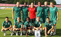 The starting eleven for St Louis Athletica.  St. Louis Athletica defeated Sky Blue FC 2-1 at Yurcak Field at Rutgers University in Piscataway, NJ on June 28, 2009.