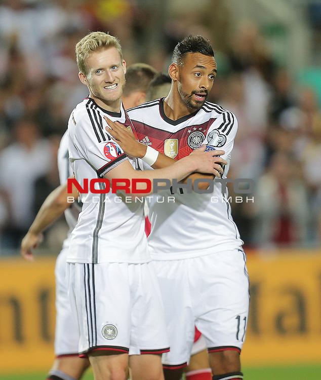EM 2015 Qualifikationsspiel, Gibraltar vs. Deutschland<br /> Andr&eacute; Sch&uuml;rrle (Deutschland) freut sich &uuml;ber sein Tor<br /> <br /> <br /> Foto &copy; nordphoto /  Bratic