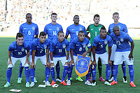 MONTEVIDEO - URUGUAY - 07-00-2015: los jugadores de Brasil, posan para una foto durante partido del Sudamericano Sub 20 entre los seleccionados de Colombia y Brasil en el estadio Centenario de la ciudad de Montevideo. / The players of Brasil, pose for a photo during the match for the Sudamericano U 20 between the teams of Colombia and Brasil in the Centenario stadium in Montevideo city,  Photo: Andres Gomensoro  / Photosport / VizzorImage.