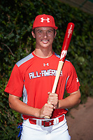 Ben Harris (13) of Milton High School in Alpharetta, Georgia poses for a photo before the Under Armour All-American Game presented by Baseball Factory on July 29, 2017 at Wrigley Field in Chicago, Illinois.  (Mike Janes/Four Seam Images)