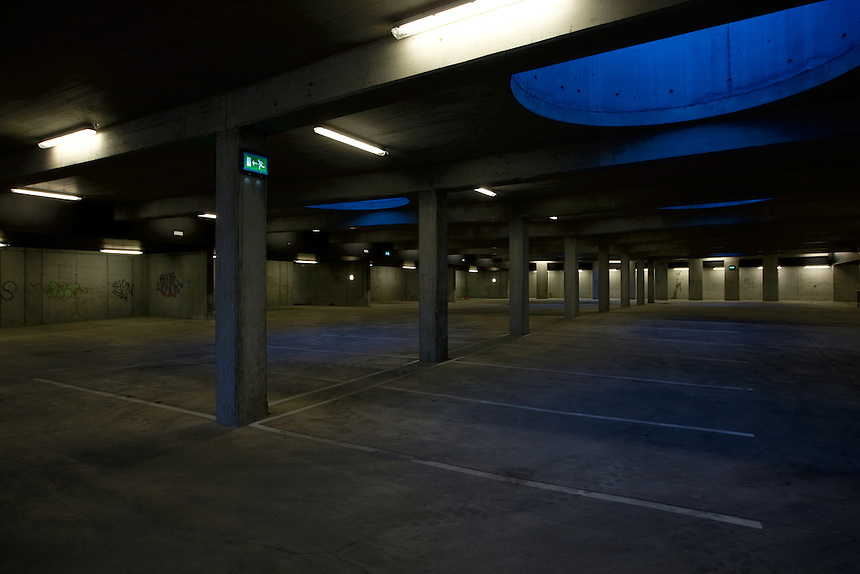 There used to be more registered cars in Iceland than people to drive them. Still this car park and many like it are empty since no one lives in the building.