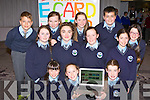 Kilcummin NS started Animated E cards for the Junior Entrepreneur awards in the Malton Hotel Killarney on Wednesday front row l-r: Shauna O'Donoghue, Caoimhe Madigan, Líadlan O'Connor. Middle row: Shannon Gleeson, Aoife O'Sullivan, Katie O'Leary, Emma Lowin. Back row: Jacob Pogorzelski, sarah McGrath, Ciara Foyle, Sean Cronin and Amber Pomeralz