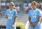 23 September 2007: North Carolina's Tobin Heath (98) and Casey Nogueira (54). The University of North Carolina Tar Heels defeated the University of San Francisco Dons 2-0 at Koskinen Stadium in Durham, North Carolina in an NCAA Division I Women's Soccer game, and part of the annual Duke Adidas Classic tournament.