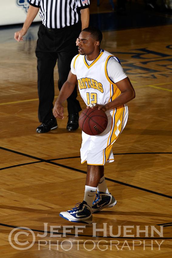 SAN ANTONIO , TX - DECEMBER 1, 2009: The Huston-Tillotson University Rams vs. the St. Mary's University Rattlers Men's Basketball at the Bill Greehey Arena. (Photo by Jeff Huehn)