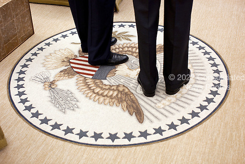 United States President Barack Obama stands with U.S. Senator Chuck Schumer (Democrat of New York), following a meeting with Senate Democratic Leadership in the Oval Office, December 7, 2011.  .Mandatory Credit: Pete Souza - White House via CNP