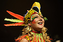 Edinburgh, UK. 08.08.2015. The Pleasance hosts its Opening Gala at the start of the Edinburgh Festival Fringe. The line-up includes: Hal Cruttenden (compere), Love Birds the musical, Jess Robinson, Young Pleasance, Theatre Re, Joe Lycett and Balletronic - just a selection from the many shows across all Pleasance venues. Picture shows: Love Birds, a new musical. Photograph © Jane Hobson.