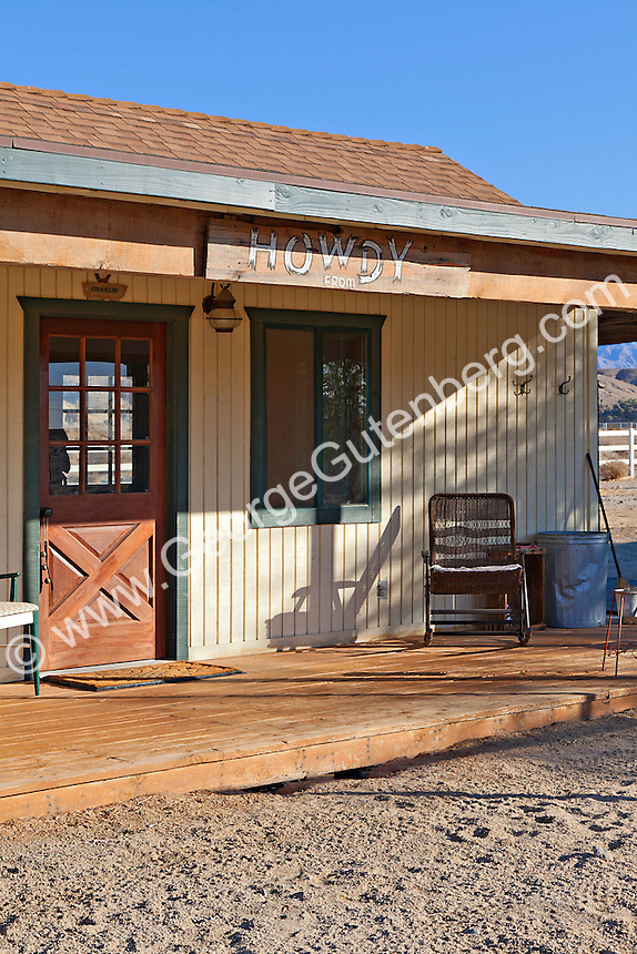 Porch of small ranch house