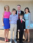 Ryan Smith from LeCheile school who received his first holy communion at the Star of the Sea church Mornington pictured with parents Alan and Bernie and brother Adam and sister Cliona. Photo: Colin Bell/pressphotos.ie