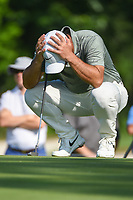 Francesco Molinari (ITA) contemplates his long birdie putt on 2 during round 3 of the 2019 Charles Schwab Challenge, Colonial Country Club, Ft. Worth, Texas,  USA. 5/25/2019.<br /> Picture: Golffile | Ken Murray<br /> <br /> All photo usage must carry mandatory copyright credit (© Golffile | Ken Murray)