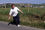 The All Ireland Road Bowling finals in Clogherhead..Picture Paul Mohan Newsfile