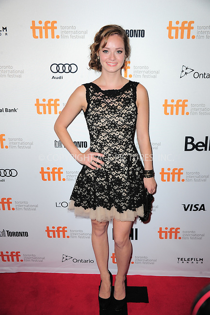 WWW.ACEPIXS.COM<br /> <br /> September 7 2013, Toronto<br /> <br /> Shannon Maree Walsh arriving at the 'Can A Song Save Your Life?' premiere during the 2013 Toronto International Film Festival at Princess of Wales Theatre on September 7, 2013 in Toronto, Canada.<br /> <br /> By Line: William Bernard/ACE Pictures<br /> <br /> <br /> ACE Pictures, Inc.<br /> tel: 646 769 0430<br /> Email: info@acepixs.com<br /> www.acepixs.com