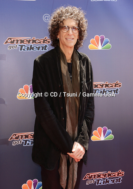 Howard Stern at American Got Talent 2014 at the Dolby Theatre in Los Angeles.