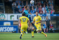 Adam El-Abd of Wycombe Wanderers clears the ball during the Friendly match between Wycombe Wanderers and AFC Wimbledon at Adams Park, High Wycombe, England on 25 July 2017. Photo by Andy Rowland.