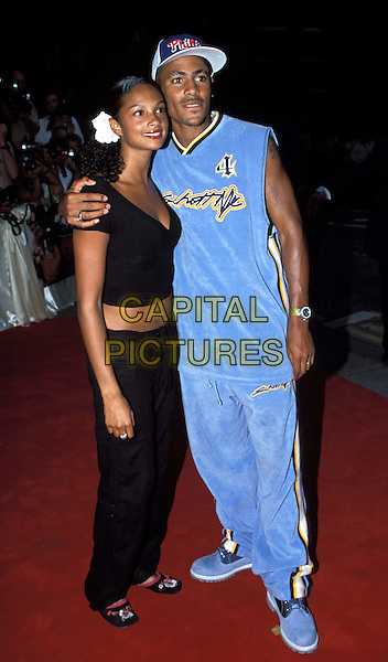 MISTEEQ - ALESHA DIXON, HARVEY - SO SOLID CREW .American Wedding Film premiere at Odeon, Covent Garden and Afterparty, Cafe De Paris.www.capitalpictures.com.sales@capitalpictures.com.© Capital Pictures.velour tracksuit, sportswear. ..full length, full-length